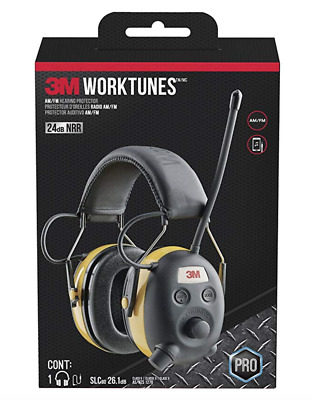 3M TEKK WorkTunes Hearing Protector with AM/FM Radio,MP3 Compatible,GST Inc.Wty