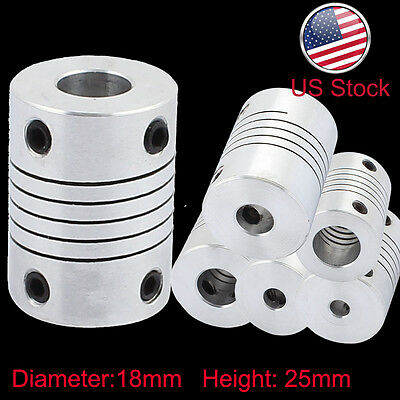 Flexible Shaft Coupler Rigid CNC Stepper Motor Coupling Connector L25D18 5-10MM