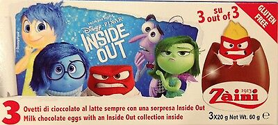 3 Boxes (9 Eggs) Inside Out Chocolate Surprise Inside, Free Gift