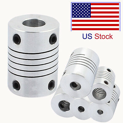 5-12mm Flexible Shaft Coupling Rigid CNC Stepper Motor Coupler Connector NEW