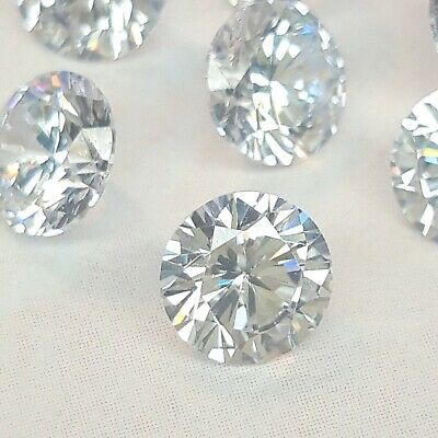 CZ Cubic Zirconia Loose Stones Size 5.5mm White Clear Round Pack of 1, 5 or 10