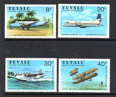 Tuvalu Mnh 1980 Sg153-156 Aviation
