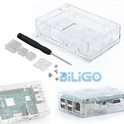 Transparent White ABS Case for Raspberry Pi 3 Model B/Pi 2 B + Heat Sink