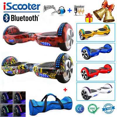 2 WHEEL SWEGWAY SELF BALANCING SCOOTER BLUETOOTH ELECTRIC BOARD iScooter +LED
