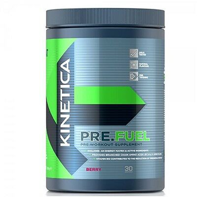 Kinetica Pre Fuel BCAA Amino Pre Workout All Flavours  *Free P&P*