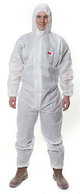 10x 3M 4515 White Disposable Protective Coverall / Boilersuit - Type 5/6 - 2XL