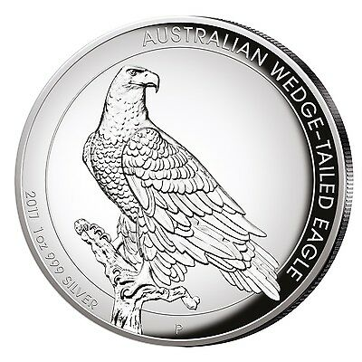 Silbermünze Australien 2017 Wedge Tailed Eagle 1 oz 999er Silber