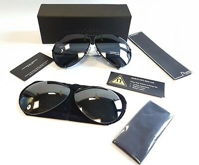 dd9df7b49377a New Porsche Design Sunglasses P8478 D Black Olive Silver Mirror Lenses Size  69