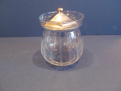 glass sugar bowl with sterling lid