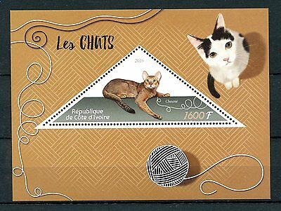 Ivory Coast 2016 MNH Cats Chausie 1v S/S Pets Domestic Animals Stamps