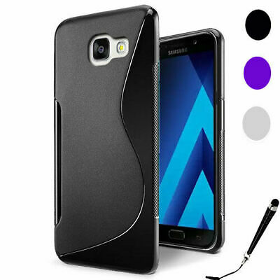 For Samsung Galaxy A3 2017 | A5 2017 | A7 2017 S Curved Soft Gel TPU Case Cover
