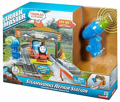 Fisher Price Thomas & Friends TrackMaster Steamworks Repair Station Train Set
