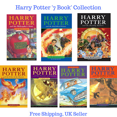 Harry Potter 7 Book Collection DEAL - Philosopher's Stone (+ 6 others) - HB/PB