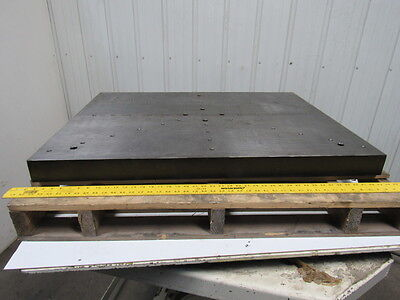 "42-1/2""x32-1/2""x 3"" Cast Iron Grooved Machine Top Layout Table Work Bench"