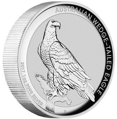 Australien - 1 Dollar 2017 Wedge Tailed Eagle 1 Oz. Silber Münze PP High Relief