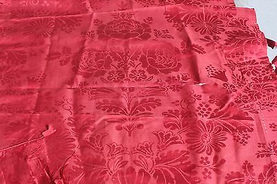 Lovely Antique 19thC French Lyon Home Dec Silk Fabric Textile Panel c1860~Frame