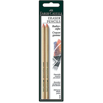 Faber-Castell - PERFECTION 7056  Eraser Pencils - Latex-Free - 2 Pack