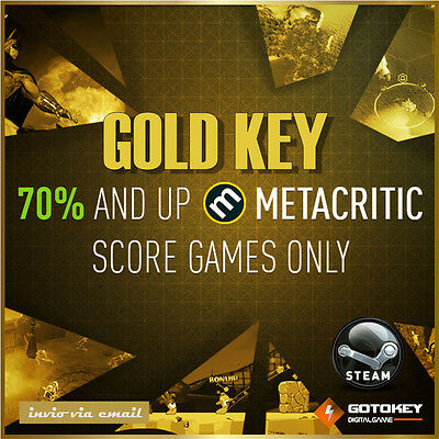 [Versione Digitale Steam] PC 1 Gioco Random KEY Gold Premium Invio Rapido!