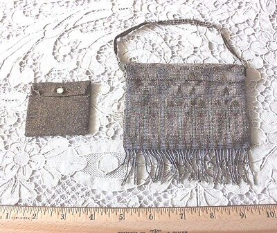 "French Antique Vintage Microbeaded Women's Purse c1905-1915~3.5""L X 4.5""W~Dolls"