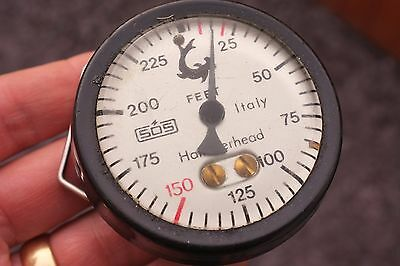 Vintage SOS Hammerhead SCUBA Depth Gauge..spares or repair, collectors item only