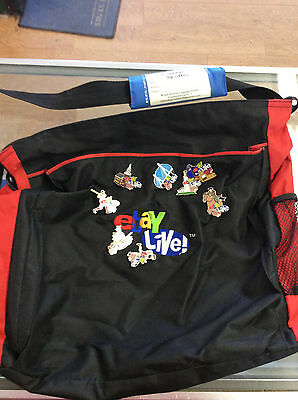 ebay live messenger tote bag with 8 ebay live 07 Boston pins