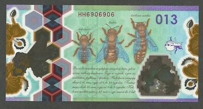 Test Note Pwpw (Pol) Honey Bee 013 Units Unc Red Serial Polimer