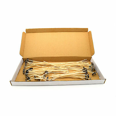20 pcs High Quality Pre Waxed Wicks With Sustainers For Candle Making