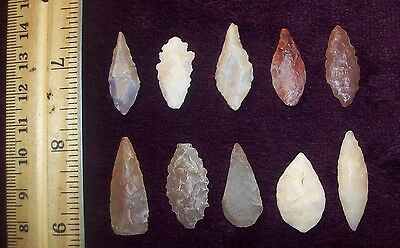 Neolithic Arrowheads / Group of 10 (small Blades)          #12.8