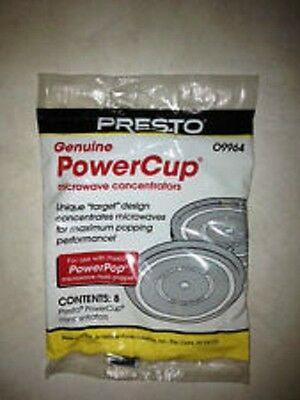 Presto Genuine PowerCup Microwave Concentrators White 09964 Pack of 8