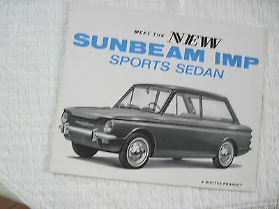 Sunbeam Imp Sports Sedan By Rootes Original Brochure-Well Illustrated
