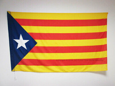 CATALONIA ESTELADA BLAVA FLAG 3' x 5' for a pole - INDEPENDENTIST CATALAN FLAGS