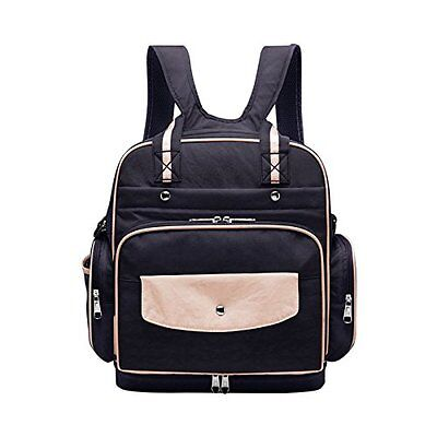 All in One Multifunction Diaper Bag Backpack Waterproof Fabric Baby Nappy Bag -