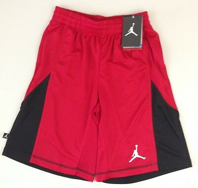 Nike Boy's Dri-Fit Jumpman Air Jordan Red Black Basketball Shorts 951097  - NWT