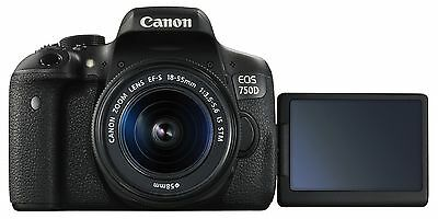 Canon EOS Rebel T6i / 750D DSLR Camera + EF-S 18-55mm IS STM Lens *Brand New*
