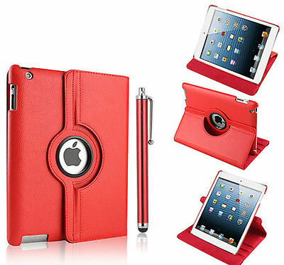Leather 360 Degree Rotating Smart Stand Case Cover For APPLE iPad 2/3/4