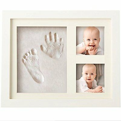 Baby Picture Frame Kit Footprint Hand Print Photo Infant Decor Shower Ink Pad