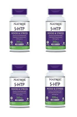Natrol 5 - HTP Time Release 200 mg 120 Tablets (Pack of 4)