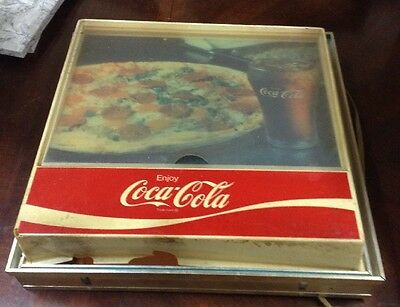 Vintage Coca Cola Pizza And Drink Light Up Sign..The Light Does Work