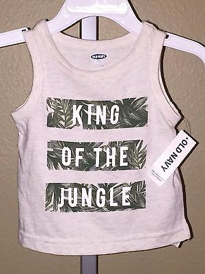Boy's Old Navy King of the Jungle Palm Tree Tank Top, Size 0-3 Months