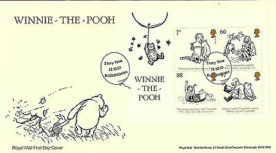 Gb 2010 Winnie The Pooh Mini Sheet On Royal Mail Fdc, Special Cancel