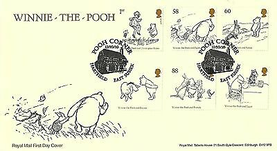 Gb 2010 Winnie The Pooh Set On Royal Mail Cover, Pooh Corner Pmk