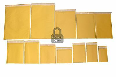 1-3000 Kraft Bubble Mailers #0000 - #7 Self Sealing Full Line Available