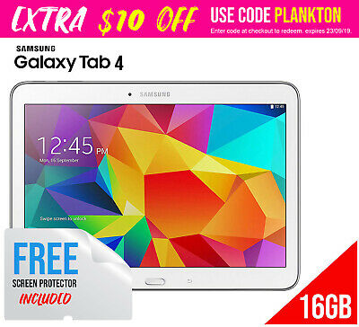 """Samsung Galaxy Tab 4 10.1"""" 16GB WiFi White Android Tablet SM-T530 Free Shipping"""