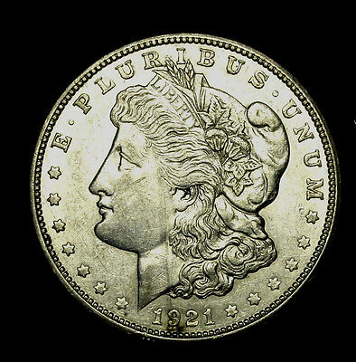 1921 D ~**ABOUT UNCIRCULATED AU**~ Silver Morgan Dollar Rare US Old Coin! #R77