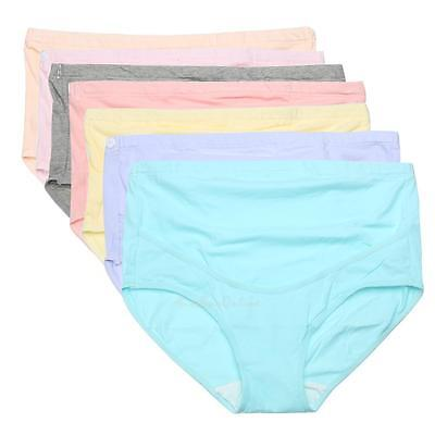 Soft Cotton Pregnant Women Underwear Breathable Belly Support Panties K1B