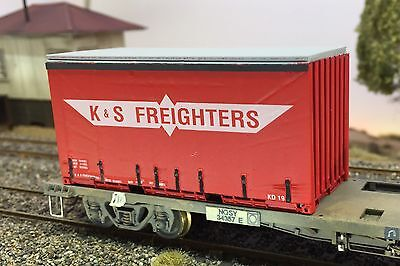 K&s Freighters 20Ft Tautliner Container Kit - Suits Auscision Sds Nsw Sra Vr