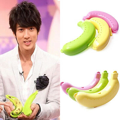 Cute Banana Guard Protector Case Outdoor Lunch Fruit Box Storage Holder