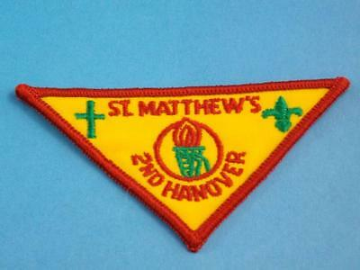 BOY SCOUTS SCOUTS CANADA 1st ST MATHEWS 2nd HANOVER PATCH VINTAGE COLLECT BADGE