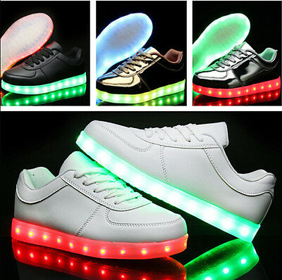 New Men Women LED Light up Shoes Luminous Sneakers Kids Casual Shoes USB Charge