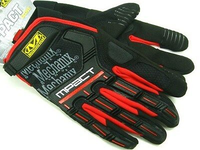 MECHANIX WEAR Size Large L Black Red M-PACT Tactical Gloves New!  MPT-52-010